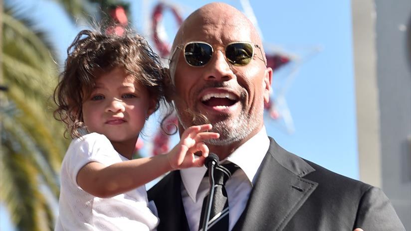 Dwayne Johnson insieme alla figlia Jasmine