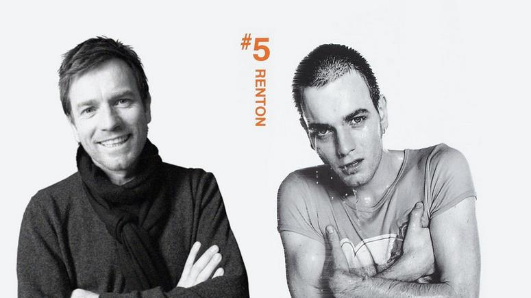 Renton in Trainspotting e in T2: Trainspotting