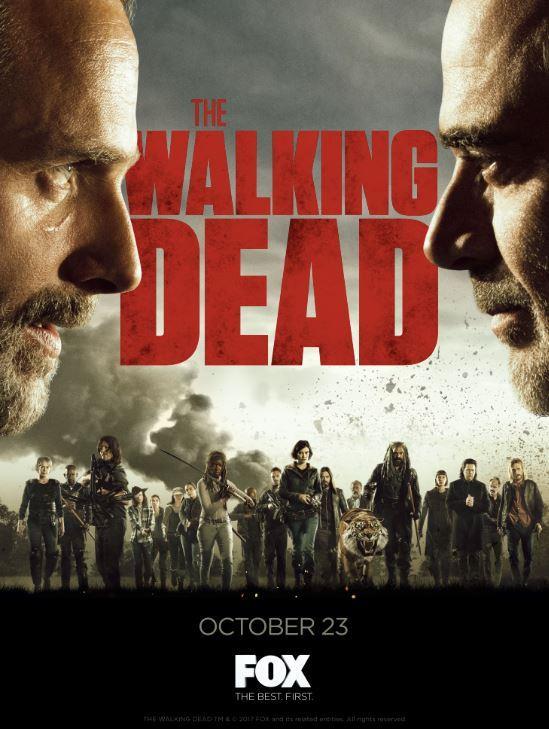 Il poster di The Walking Dead 8