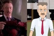 J.K. Simmons in una scena di Spider-Man 2, diretto da Sam Raimi