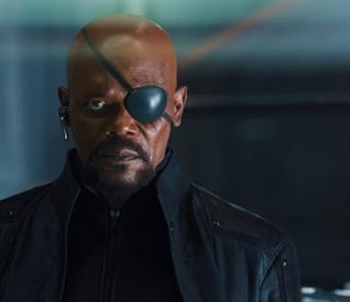 Samuel L. Jackson in una scena del Marvel Cinematic Universe