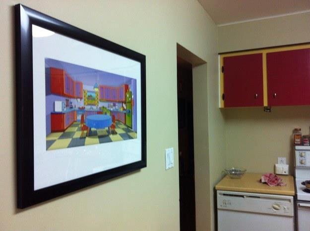 La foto di riferimento della cucina dei Simpson