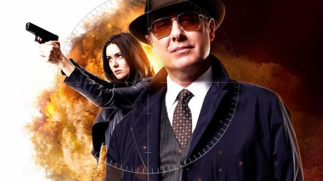 Megan Boone e James Spader nei rispettivi ruoli di The Blacklist