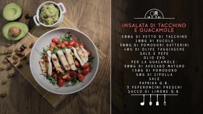 La ricetta dell'insalata di tacchino e guacamole
