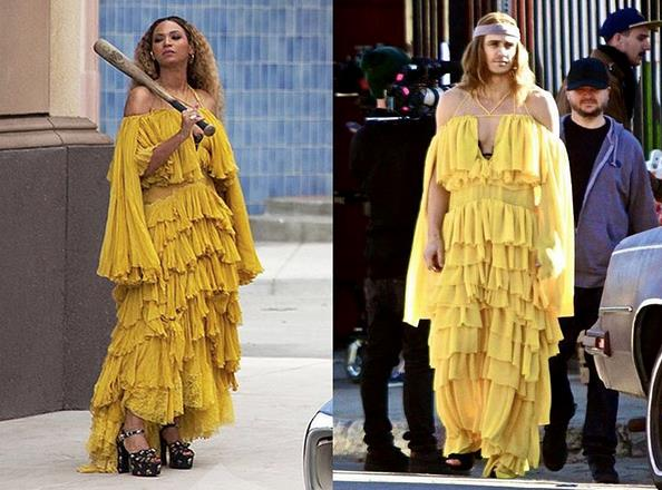 Un collage tra James Franco e Beyoncé