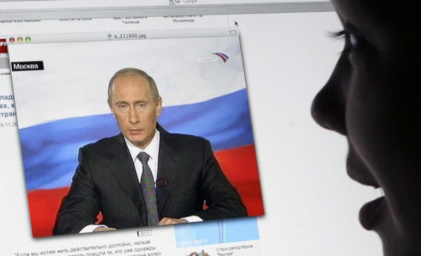 Putin in video riprodotto su un Mac