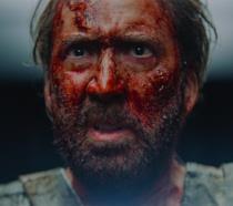 Nicolas Cage in una scena del film Mandy
