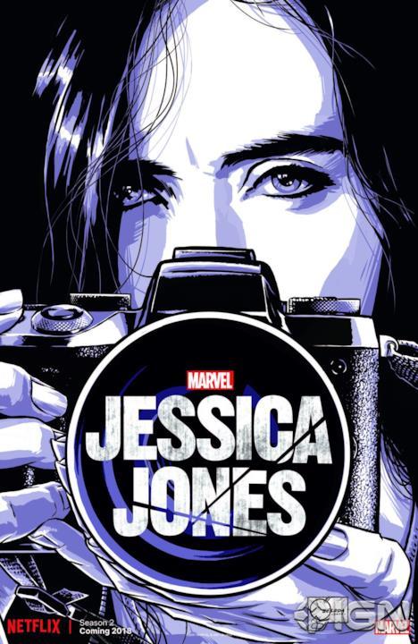 Jessica Jones a fumetto con la macchina fotografica