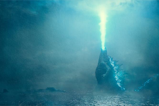 Godzilla sputa il suo respiro atomico
