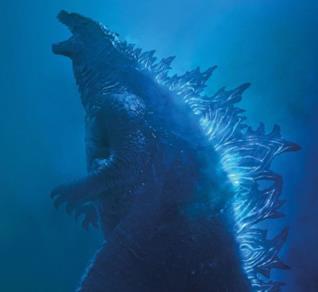 Un primo piano di Godzilla dal trailer di King of Monsters