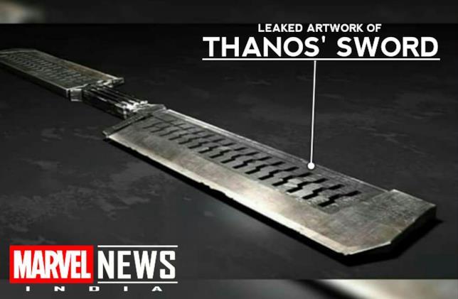 Immagine leakata della nuova arma di Thanos in Avengers 4