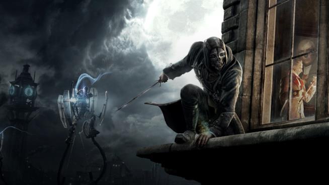 Un artwork di Corvo dal primo capitolo di Dishonored