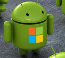 I loghi di Android e Microsoft