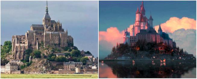 Il castello di Rapunzel è ispirato da quello di Mont Saint Michel