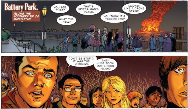 Nel fumetto Superior Spider-Man, i ragazzi di The Big Bang Theory assistono a un incendio