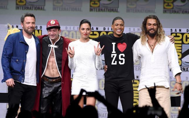Il cast di Justice League al Comic-Con
