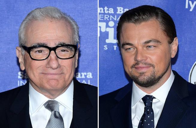 Collage di Martin Scorsese e Leonardo DiCaprio