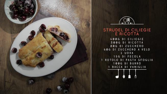 La ricetta dello strudel di ciliegie e ricotta