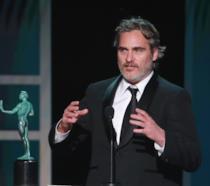 Joaquin Phoenix durante il discorso di ringraziamento ai SAG Awards 2020