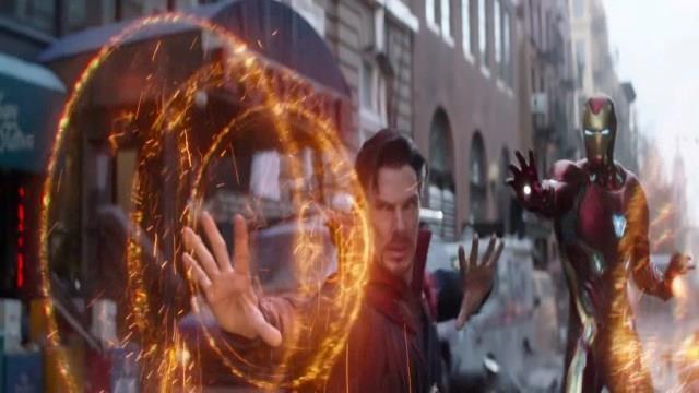 Doctor Strange e Iron Man nello spot di Infinity War