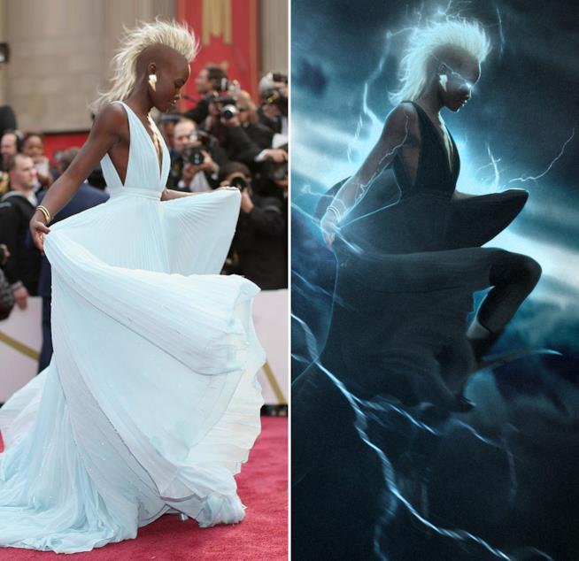 Lupita Nyong'o in una fanart che la immagina come Tempesta