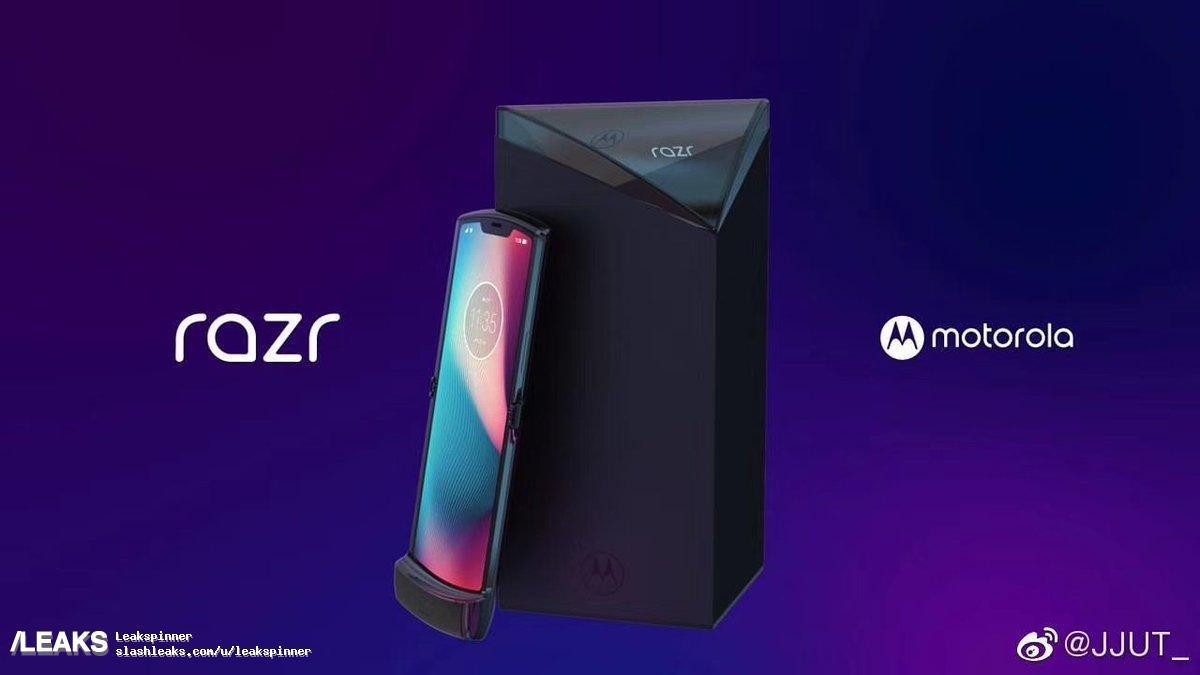 Immagine stampa del Motorola RAZR V4 e della sua confezione