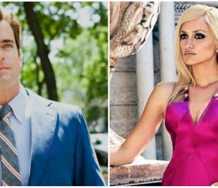 Matt Boomer in un collage con Penelope Cruz in American Crime Story