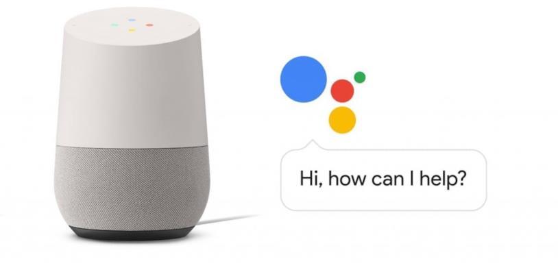 Google Home e il logo di Google Assistant
