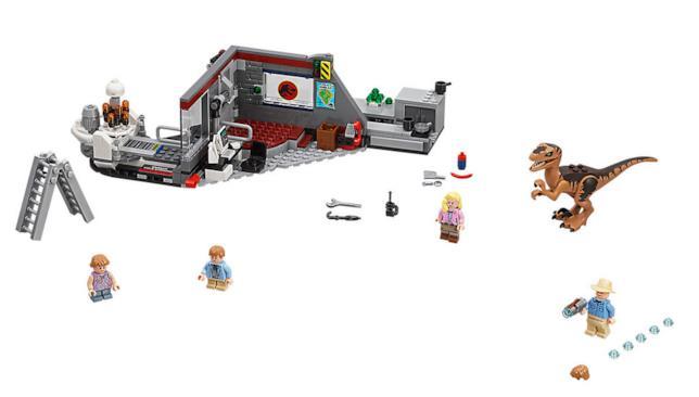 Dettagli sul nuovo set di LEGO Jurassic Park Velociraptor Chas