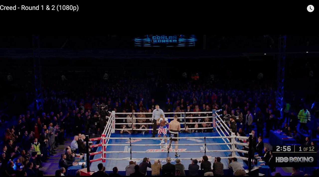Una ripresa dall'alto del ring