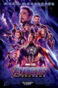 Gli eroi di Avengers: Endgame riuniti nel poster ufficiale italiano