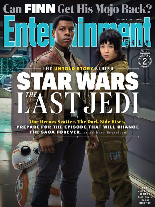 Star Wars: Gli Ultimi Jedi, la copertina su Entertainment Weekly