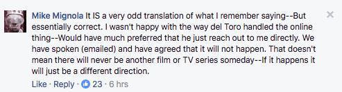 Mike Mignola parla di Guillermo del Toro