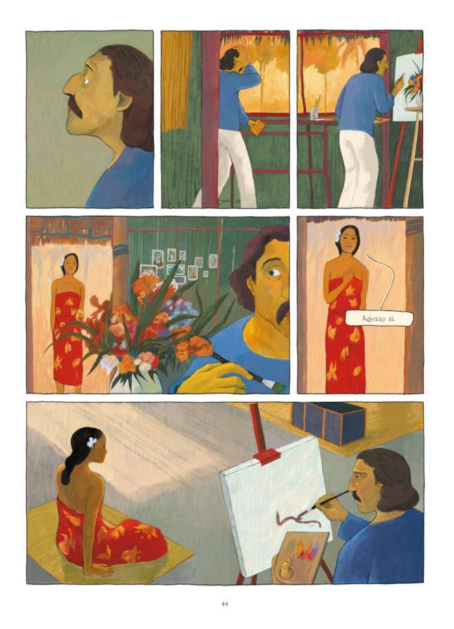 Teura accetta di farsi ritrarre da Gauguin