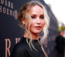 Un mezzo primo piano di Jennifer Lawrence