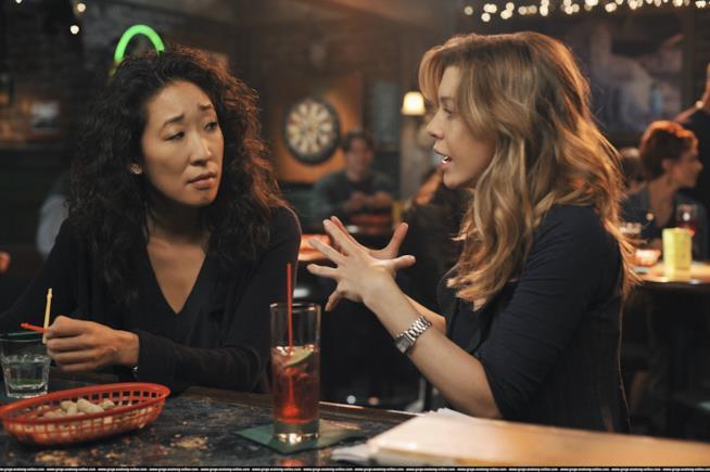 Cristina e Meredith di Grey's Anatomy
