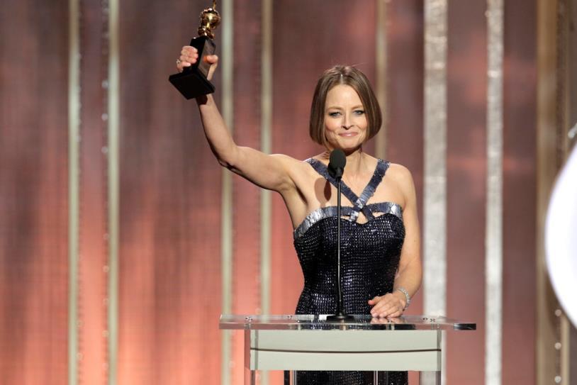 Jodie Foster con il Golden Globe
