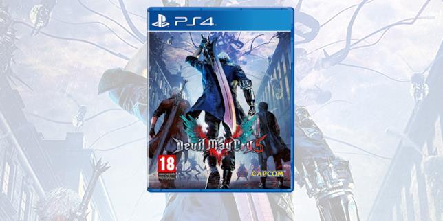 La boxart di Devil May Cry 5 in versione PS4