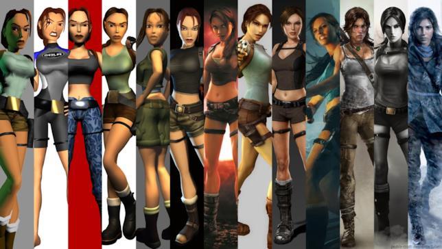 Lara Croft negli anni