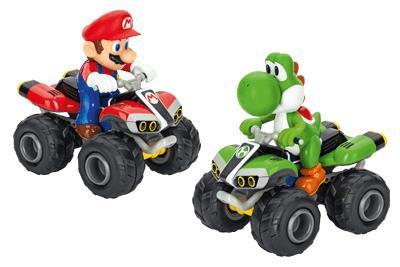 Mario e Yoshi in sella al loro quad Carrera