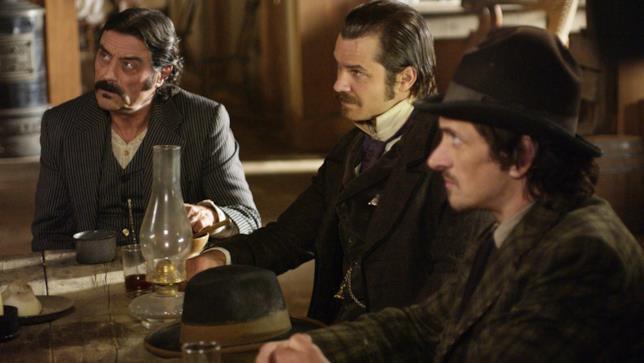 Una sequenza dalla serie Deadwood
