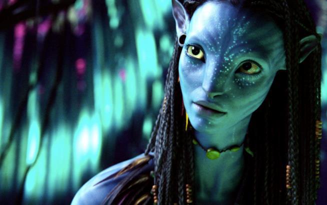Una scena di Avatar con Neytiri
