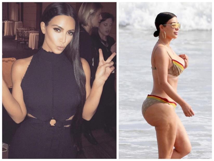 Il lato B di Kim Kardashian senza ritocchi