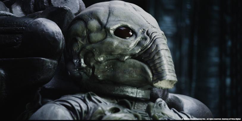 L'elmo degli Ingeneri, le creature aliene di Prometheus