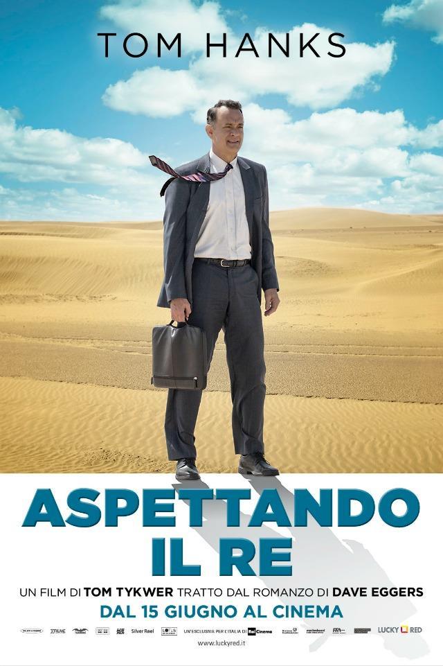 La locandina di Aspettando il Re, il film di Tom Tykwer con Tom Hanks