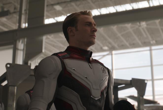 Chris Evans in una scena di Avengers: Endgame