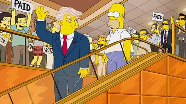 Donald Trump e I Simpson