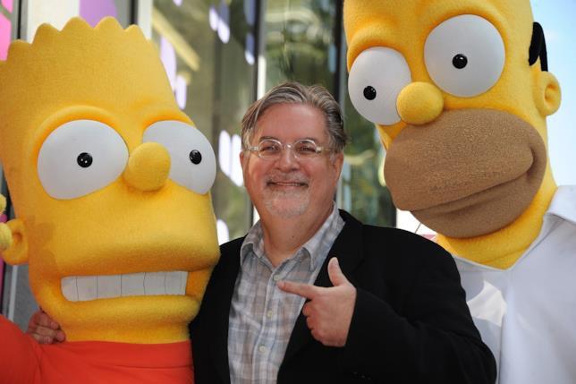 Matt Groening tra Bart e Homer