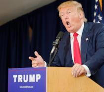Donald Trump durante un discorso
