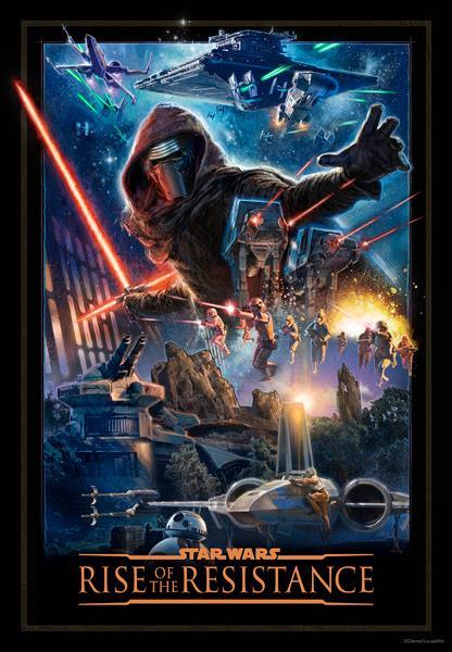Il poster del parco a tema Star Wars: Rise of the Resistance di Galaxy's Edge